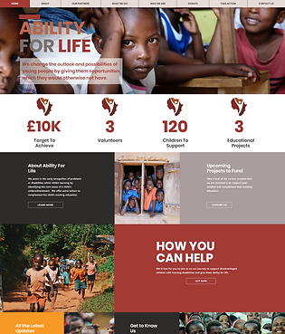 Ability For Life Charity Website Design