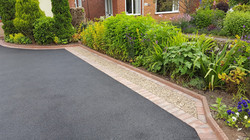 D2  Tarmac Driveway Surfacing with Brindle Block Border at Temple Normanton in Chesterfield