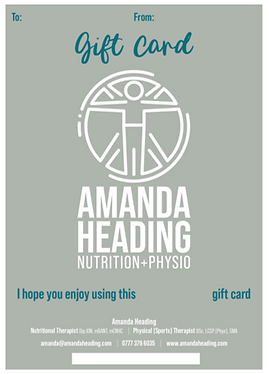 Gift Vouchers From Amanda Heading