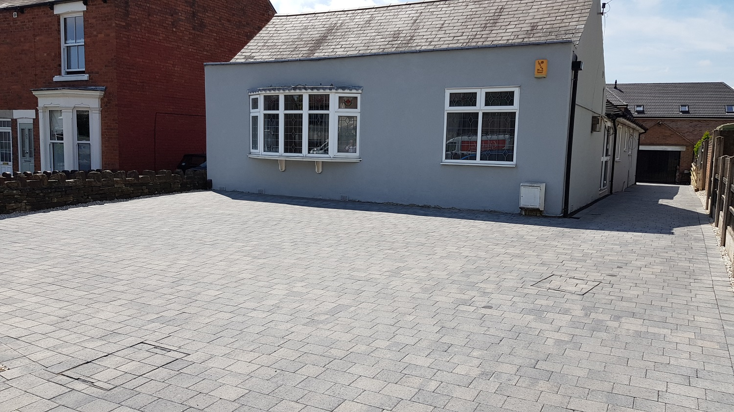 C29 Plaspave Modena Granite Stone Block Paving Driveway at Newbold in Chesterfield