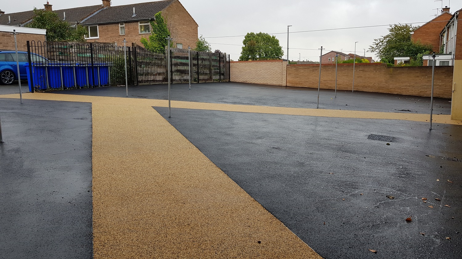 P16 Tarmac and Resin Bound Surfacing to Drying Area at Loundsley Green in Chesterfield