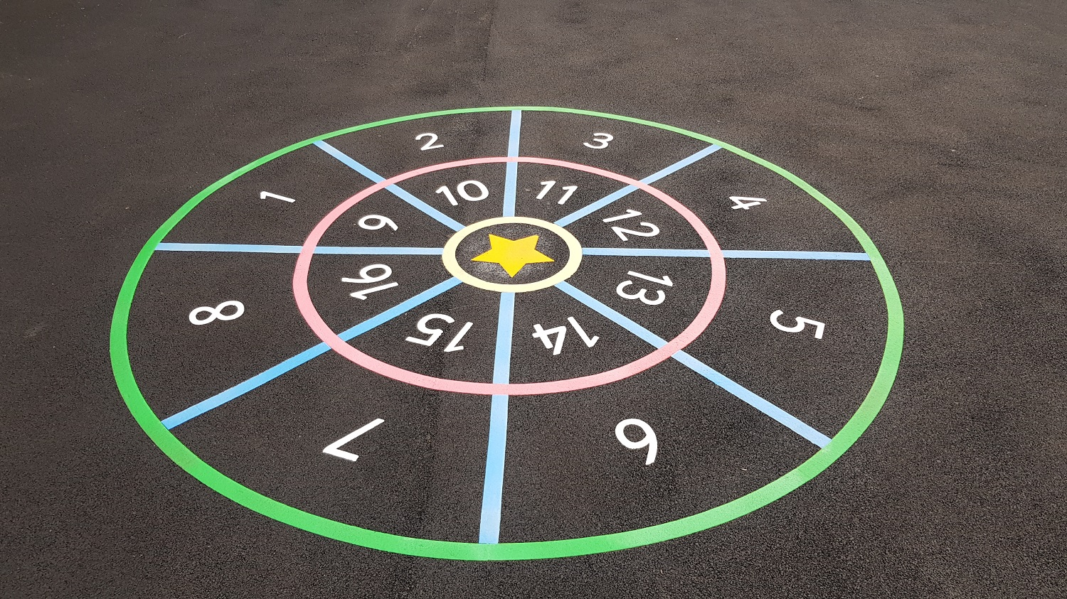 P15 Playground Tarmac Surfacing & Playground Markings at Ashover Primary School in Ashover