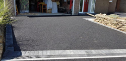 D38  Tarmac Driveway Surfacing with Charcoal Block Border at Brampton in Chesterfield