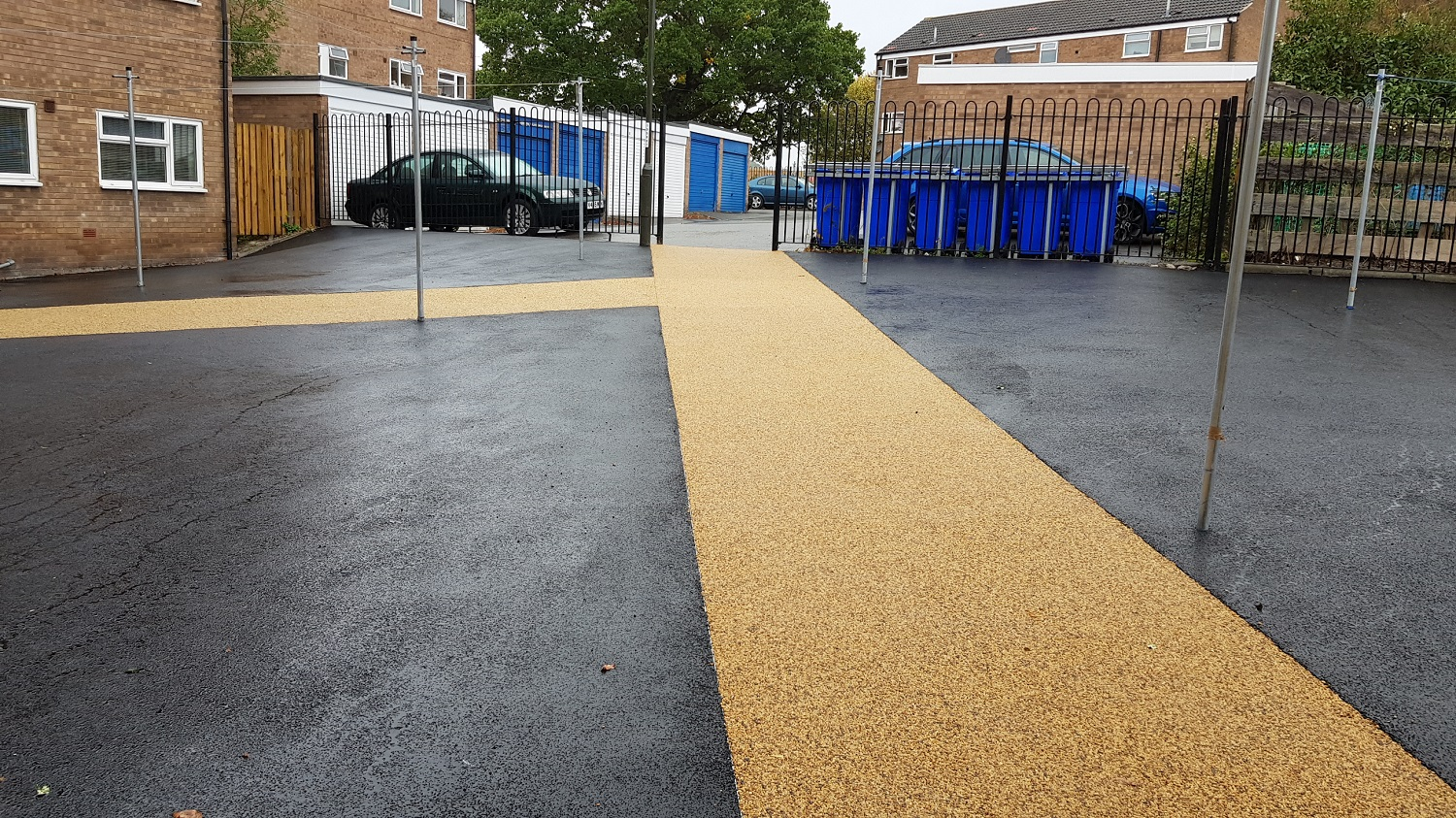 P14 Tarmac and Resin Bound Surfacing to Drying Area at Loundsley Green in Chesterfield