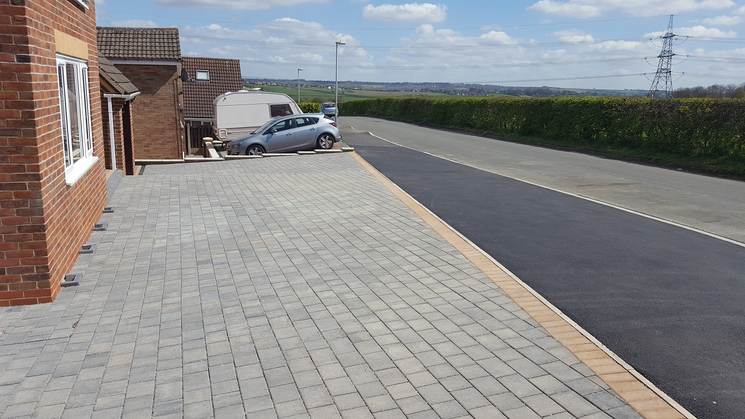 C10 Plaspave Modena Granite Stone Block Paving Driveway at Inkersall in Chesterfield