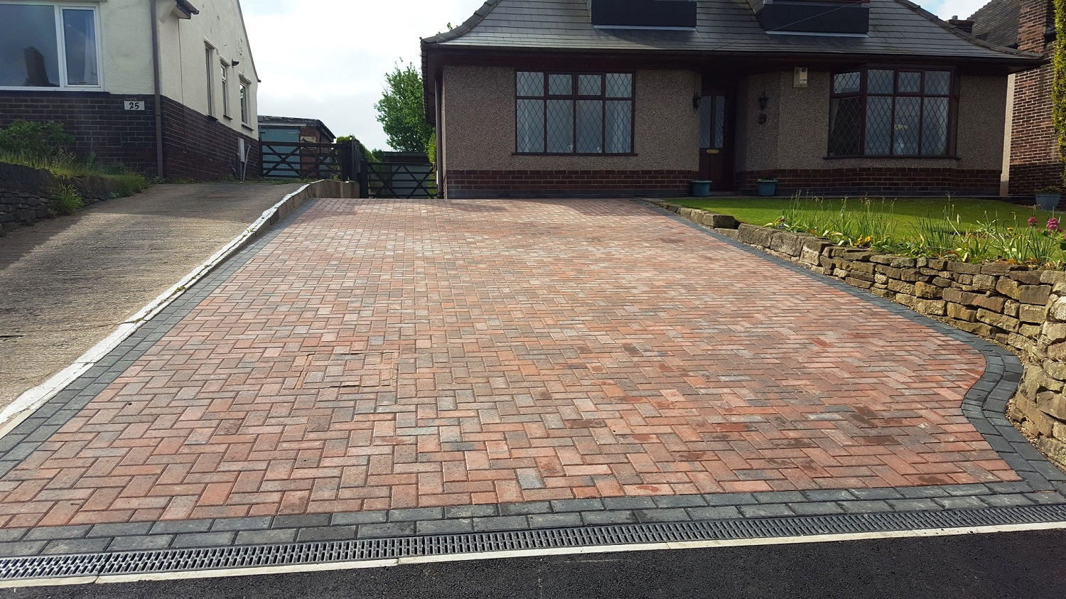 C6 Plaspave Brindle Block Paving Driveway at Brimington in Chesterfield