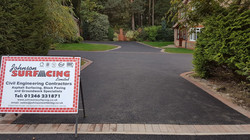 D3  Tarmac Driveway Surfacing with Brindle Block Border at Walton in Chesterfield
