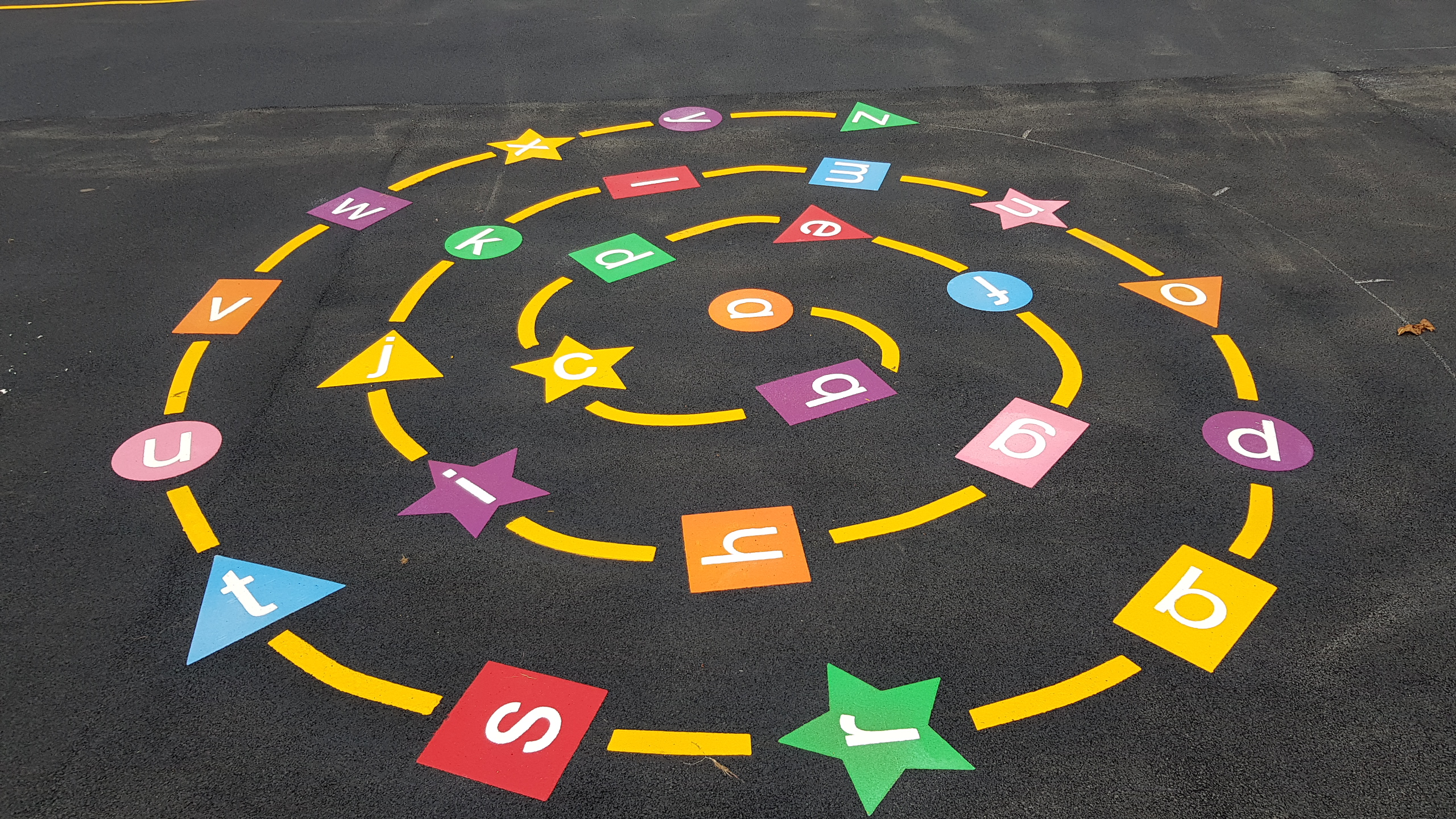 P17 Playground Tarmac Surfacing & Playground Markings at Ashover Primary School in Ashover