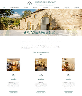 Haddock Hideaway Holiday Accommodation Website Design