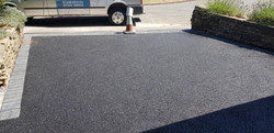 D39  Tarmac Driveway Surfacing with Charcoal Block Border at Brampton in Chesterfield