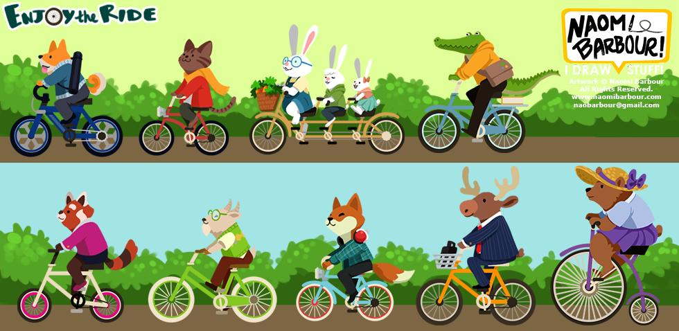 Enjoy the Ride Illustrations