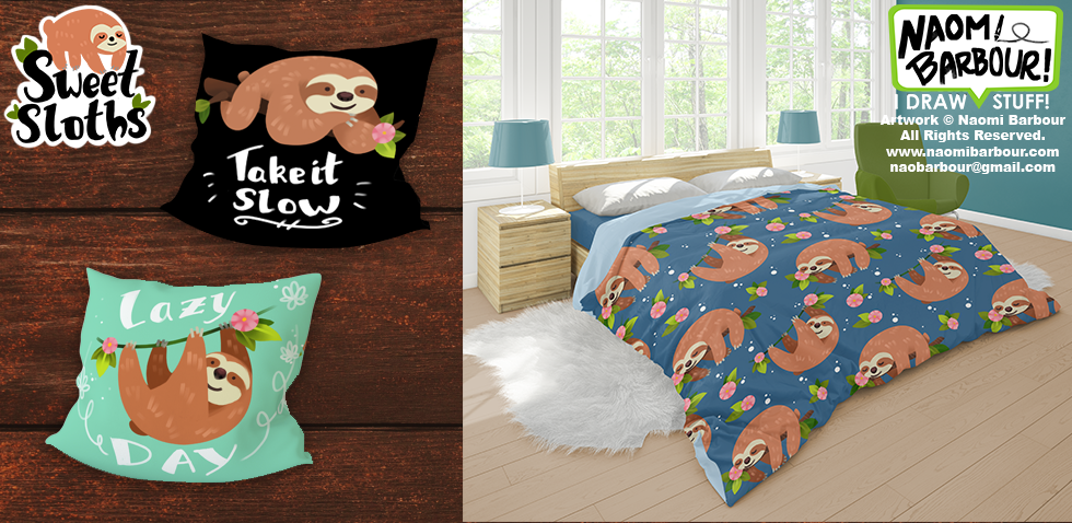 Sweet Sloths Product Mock