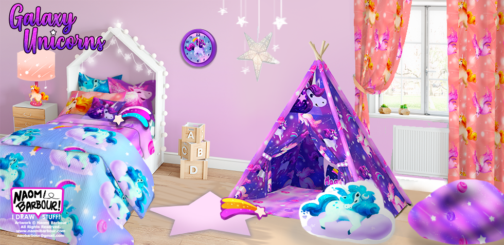 Galaxy Unicorn Bedroom