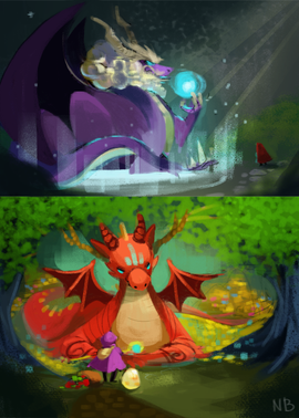 Dragon Story 2 Initial Concept Art