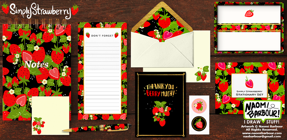 Simply Strawberry Stationary Mock