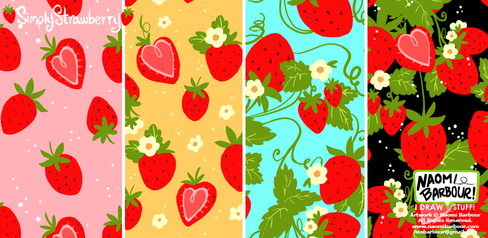 Simply Strawberry Patterns