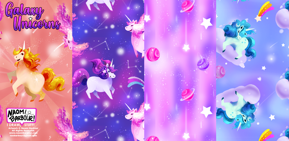 Galaxy Unicorn Patterns