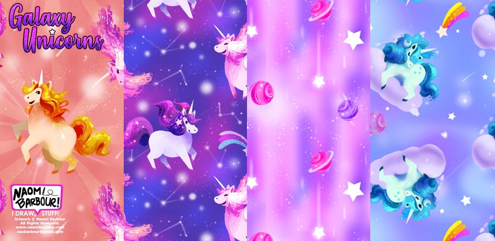 Galaxy Unicorn Patterns