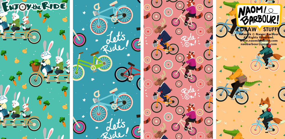 Enjoy the Ride Patterns