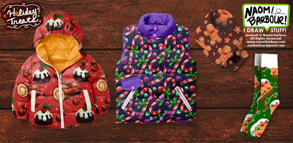 Holiday Treats Product Mocks
