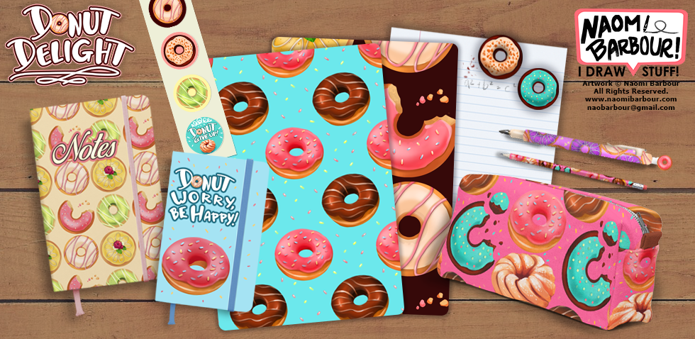 Donut School Supplies Mock