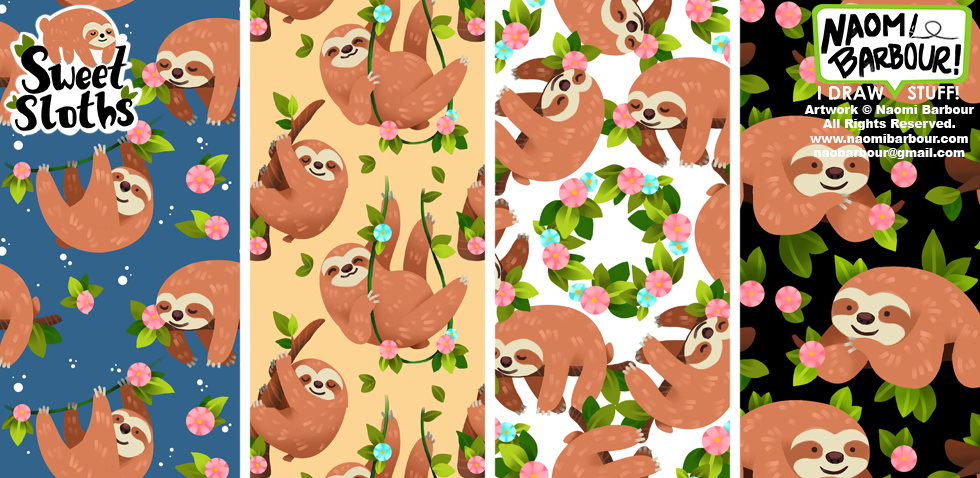 Sweet Sloths Patterns