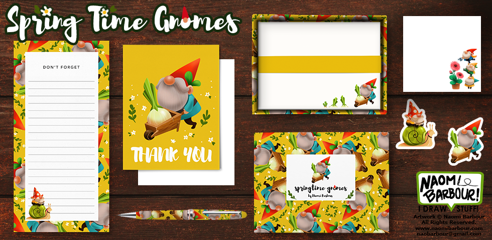 Spring Time Gnomes Product Mock