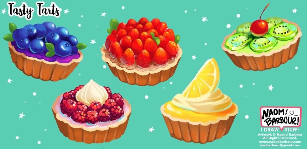 Tasty Tarts Illustrations