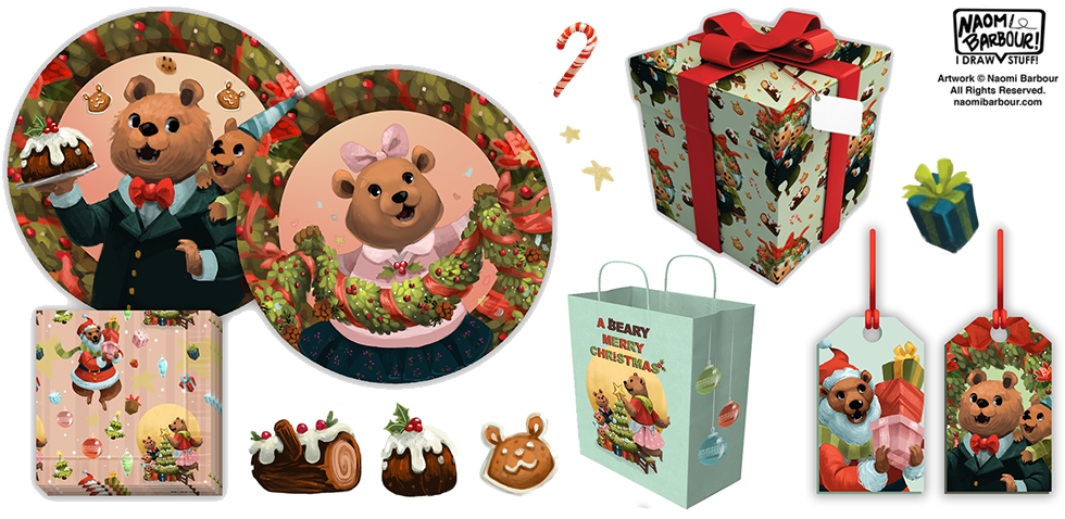 A Beary Merry Christmas Product Mocks