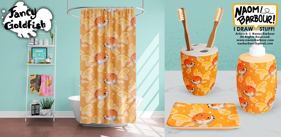 Fancy Goldfish Product Mocks