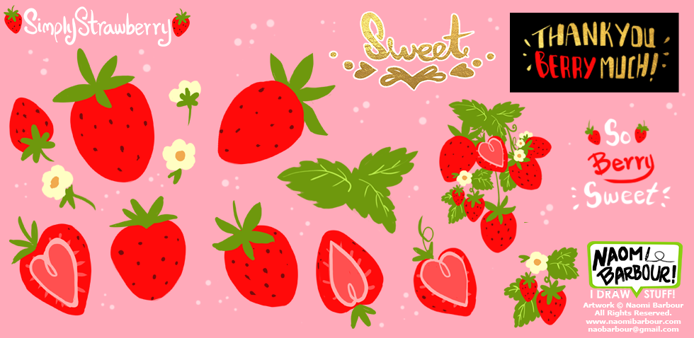 Simply Strawberry Art