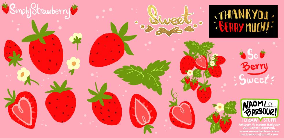 Simply Strawberry Art