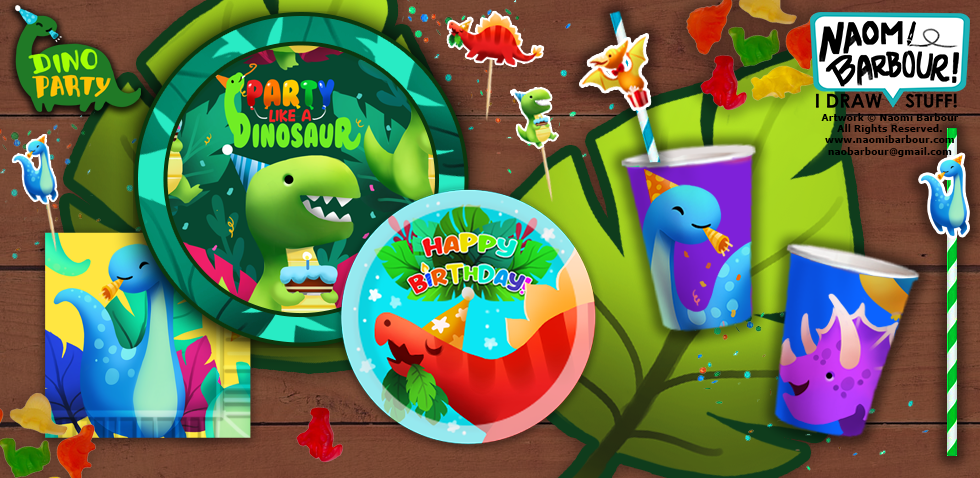Dino Party Product Mock