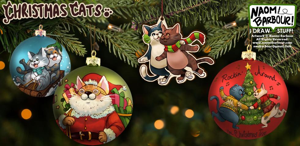 Christmas Cats Ornaments Mock