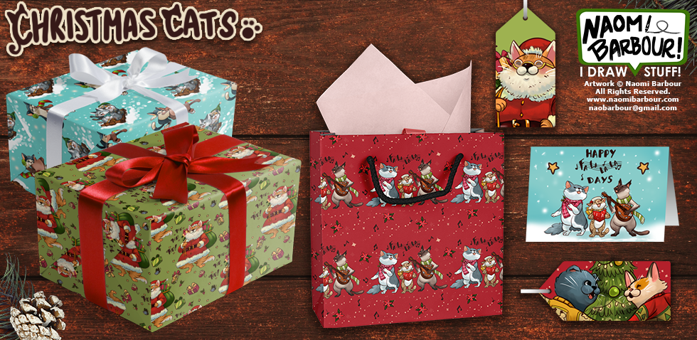 Christmas Cats Gifts Mock