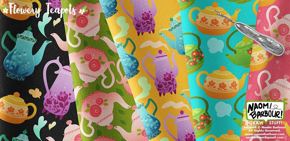 Flowery Teapots Patterns