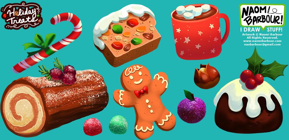 Holiday Treats Illustrations
