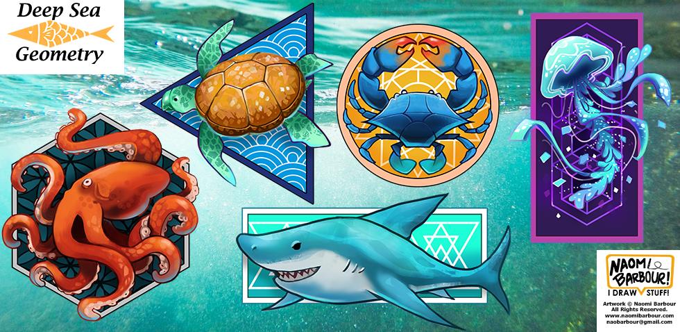 Deep Sea Geometry Illustrations
