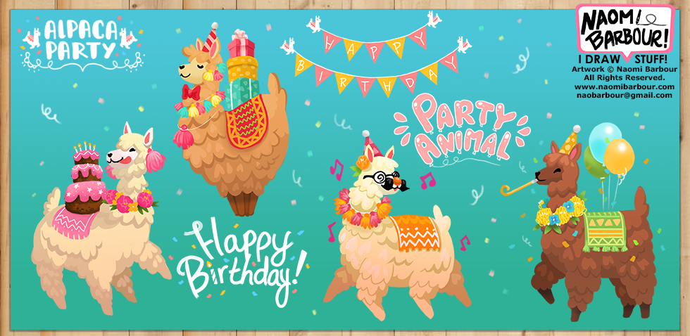 Aplaca Party Illustrations