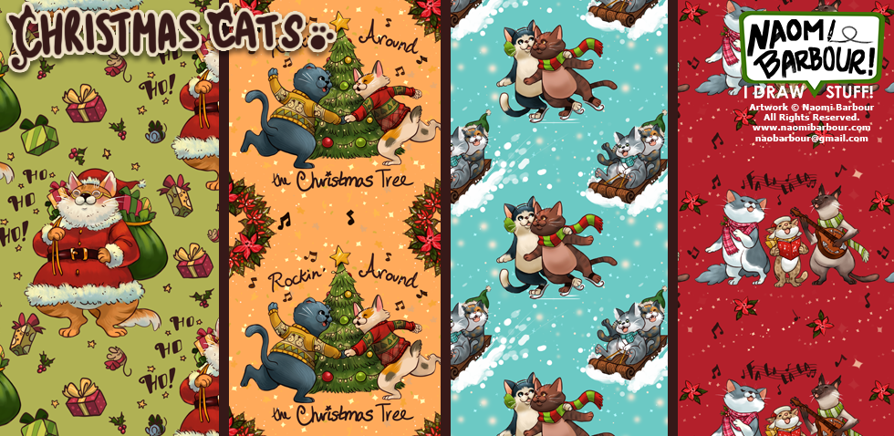Christmas Cats Patterns