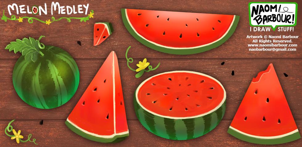 Melon Medley Illustrations