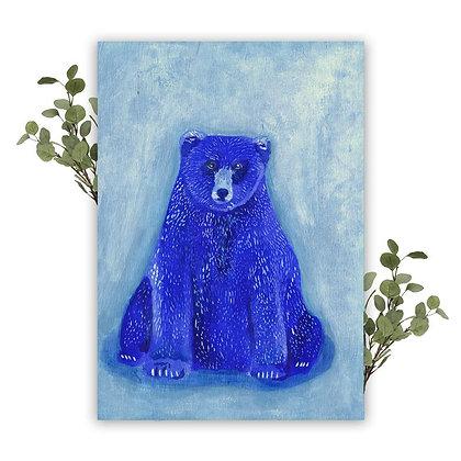 Carte Ours bleu A5