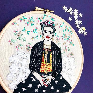 kit broderie Frida Kahlo niveau avancé