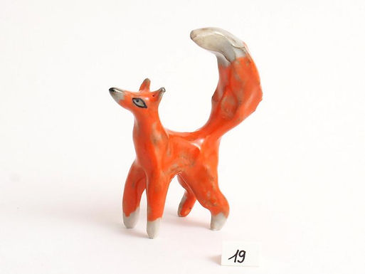 Figurine -renard orange