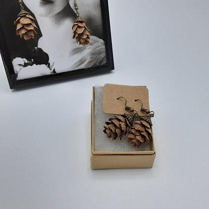 Boucles Oreilles Pommes de Pin