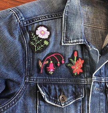 kits patchs floraux à broder
