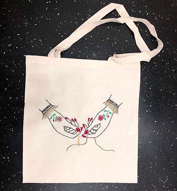 Tote Bag kit de broderie Mains Victoriennes