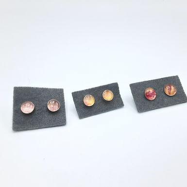 boucles d'oreilles argent et tulipe