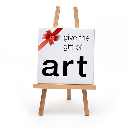 Gift Card, give the gift of art!