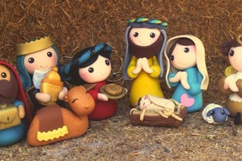 Nativity Miniatures Clay Art Kit